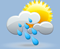 rain shwrs, winds: 5kph calm, windchill: 12°c, Rain: 3