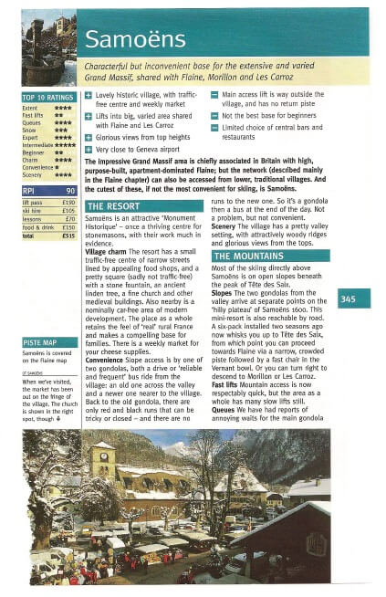 Where to Ski and Board 2012 - Samoens