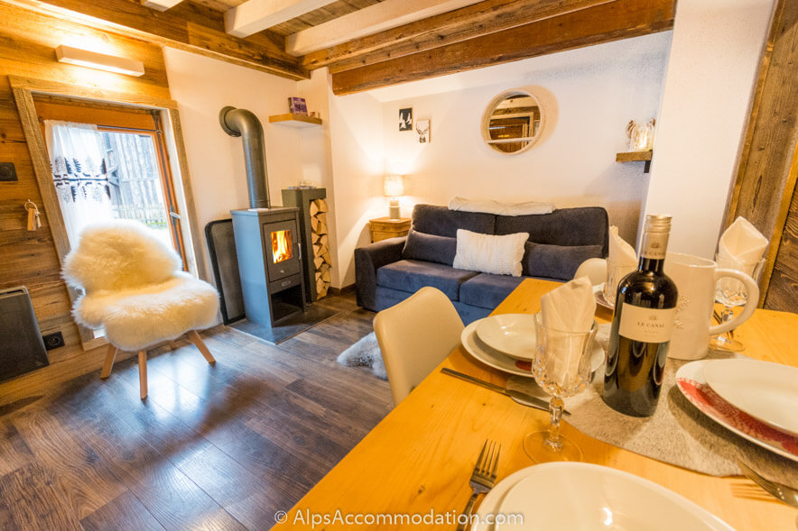 La Cabine Samoens Cosy nights in front of the log burner are a must!