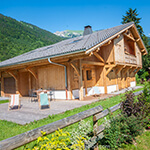 Chalet Esse Samoens outside terrace