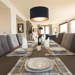 Chalet Falconnieres Samoens A large dining table that can seat up to 10