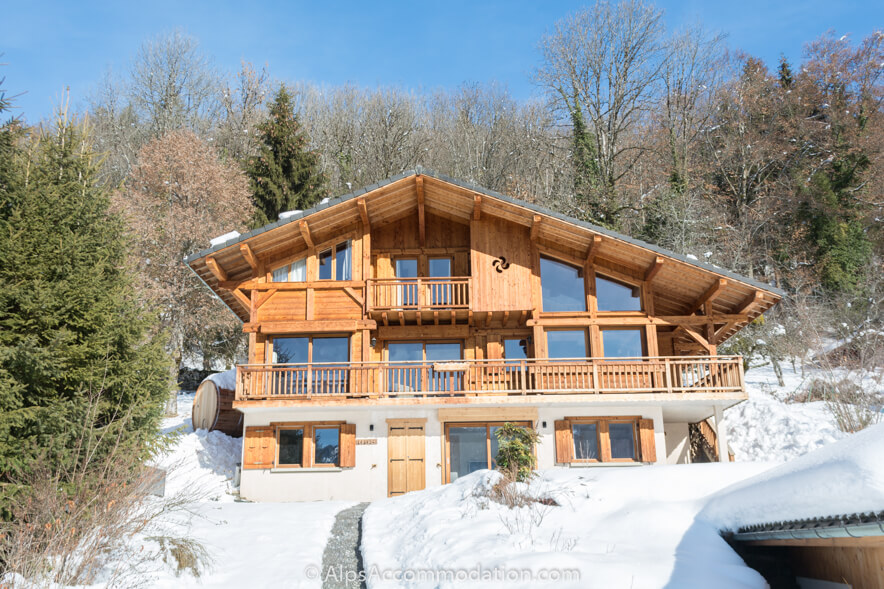 Chalet and Apartment Marguerite Samoens A stunning alpine chalet in an idyllic location overlooking Samoens