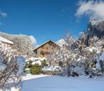 Chalet Moccand - Front View Winter