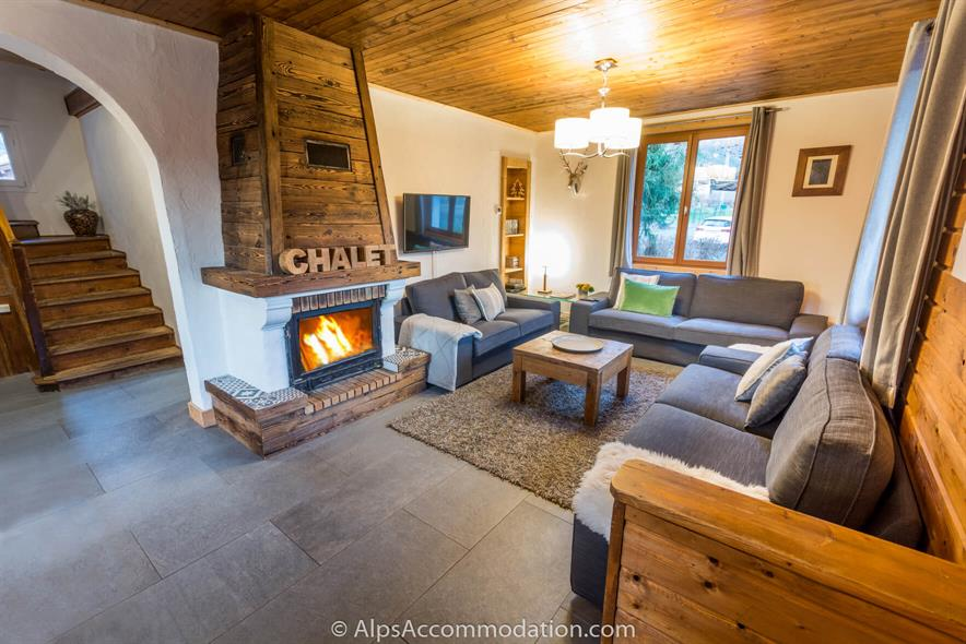 Chalet Moccand Samoens Main luxury living room