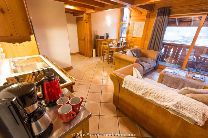 Villa Monette A19 Samoens A spacious open plan apartment with sunny balcony