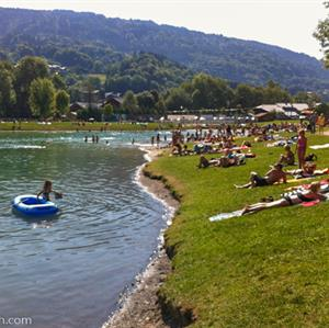 A beautiful mountain lake in Morillon