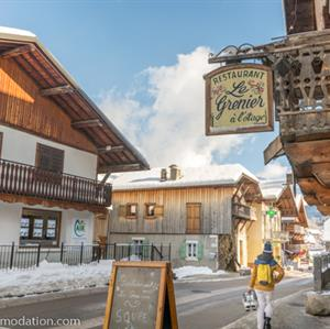 The Gorgeous village centre of Morillon, packed with local bars, cafes and restaurants