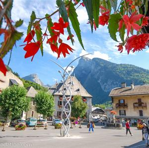 Samoens village centre in Summer