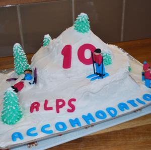 Alps Accommdation Samoens 10 year old birthday cake