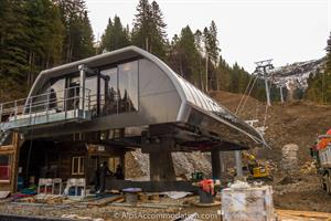The base station of the brand new Coulouvrier chairlift between Samoens and Morillon.