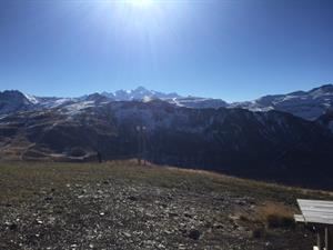 View from Tete des Saix in Samoens in the Autumn