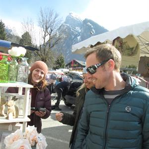 Samoens' market filled with local craftsmen and great for presents!
