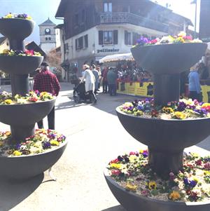 Samoens' market extends throughout the centre of Samoens' village