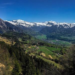 Wonderful views over Samoens and the Haute Giffre valley.