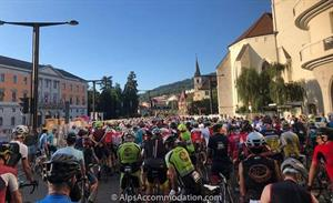 The start of the l'Etape du Tour in Annecy.