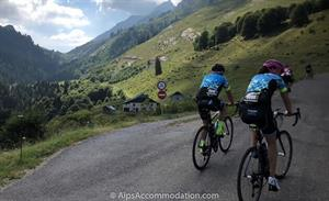 Climbing towards the Col du Colombier as featured in the Tour de France.