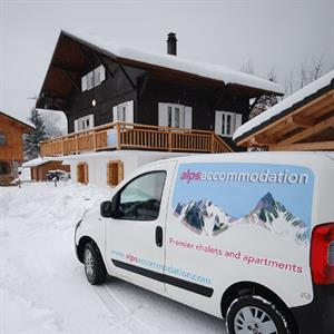 Alps Accommodation van by Chalet & Apt Levieu