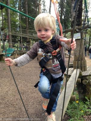 Adventure parks in Samoens and Morillon