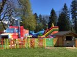 Inflatable park for kids next to Morillon lake