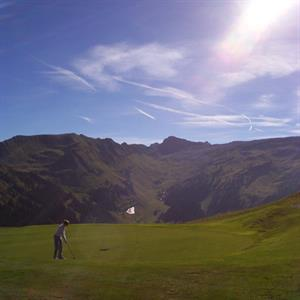 On the green - Flaine golf course