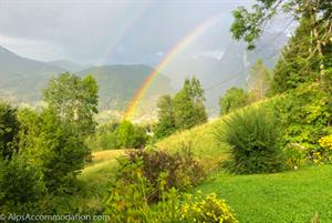 Spring Rainbow over Samoens from the Alps Accommodation Office