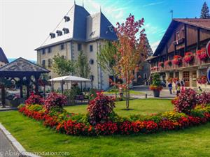 Samoens Village Square in Summer