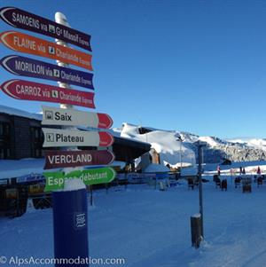 Pistes in all directions