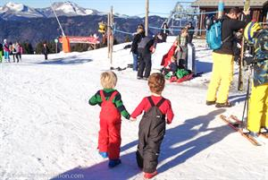 The Samoens nursery area is a great place for kids to explore
