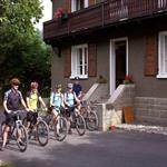 Mountain Bikers at Chalet Moccand